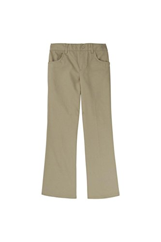 French Toast Girls Size' Pull-on Pant, Khaki, 12.5 Plus by French Toast