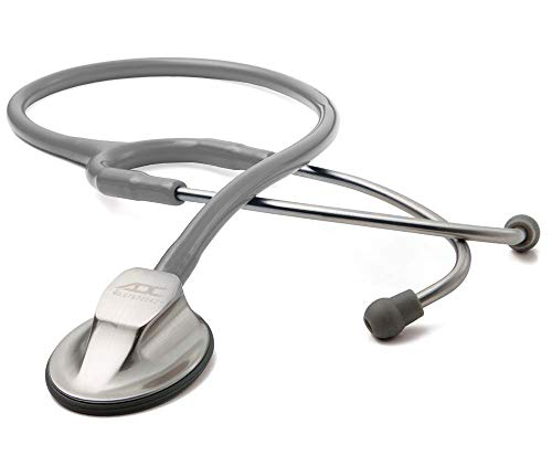 ADC Adscope 615 Platinum Sculpted Clinician Stethoscope with Tunable AFD Technology,, Gray