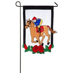 "Evergreen Kentucky Derby Double-Sided Appliqué Garden Flag - 12.5""W x - De Derby Kentucky"