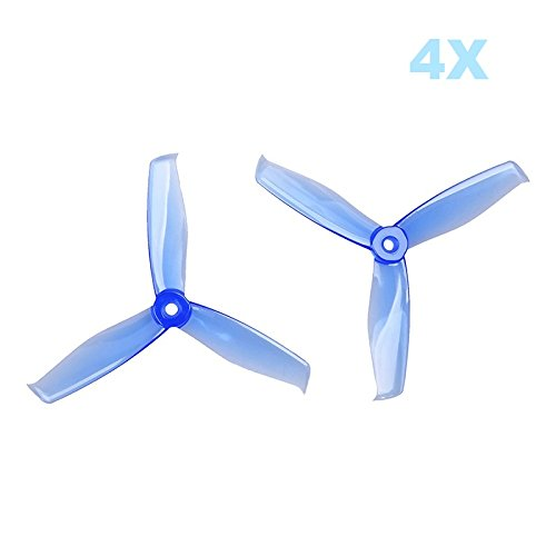 UUMART Gemfan 5055 3-Blades Hulkie (5×5.5×3) Propellers 8Pcs 5-inch Tri Blades Quadcopters & Multirotors Props
