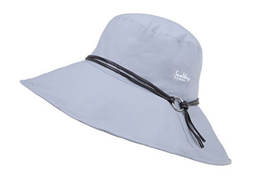 87c836f5c Sunway Reversible Rolled Up Wide Brim UV Protection Hat UPF50+ for Summer  (White & Grey)