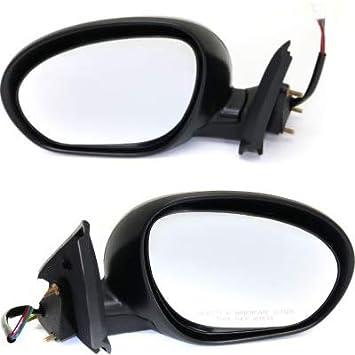 Black /& Chrome Power side view Mirror Pair Set for 11 Nissan Juke NEW