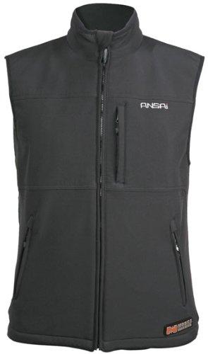 Mobile Warming Classic Vest Heated Textile Women's Motorcycle Heated Vest (Black, Plus M)