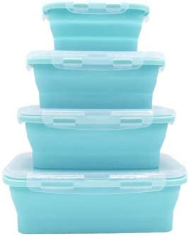 Collapsible Silicone Food Storage Containers product image