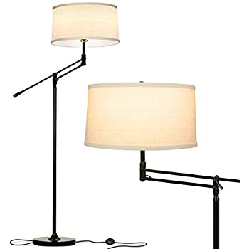 Brightech Grayson Arc Floor Lamp Tall Standing Lamp Over The Living Room Couch Adjustable