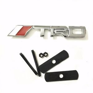Exotic store REPLACEMENT 3D Chrome Metal (Not Plastic) TRD Fit For Toyota Fj Cruiser, Supercharger, Tundra, Tacoma, 4 Runner Front Grille Grill TRD Badge Emblem JDM