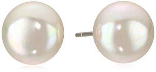 UPC 730608263377, Majorica 10 mm White Flat Simulated Pearl Stud Earrings