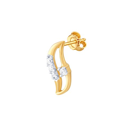 Giantti 14 carats Diamant pour femme Boucles d'oreille à tige (0.0634 CT, VS/Si-clarity, Gh-colour)