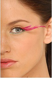 Feathered False Eye Lashes - Pink Fancy (Screw And Bolt Halloween Costume)