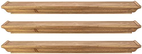 kieragrace Muskoka Fitz Wood Shelves – Walnut, 36-Inch, Set of 3