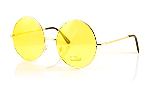 FBL Oversize Round Lovely Color Tinted Lens Sunglasses Spring Hinge A120 ()