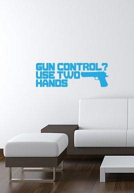 (GUN CONTROL vinyl wall-art Sticker 7