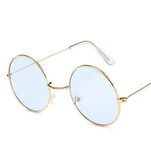 0c5d028ac98 Image Unavailable. Image not available for. Color  XuBa Vintage Round  Sunglasses Women Ocean Color Lens Mirror Sunglasses Female Design Metal  Frame Circle ...