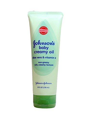 Johnsons, Baby Oil Creamy Aloe & Vitamin E, 8 fl oz each (Best Mosquito Cream For Babies)