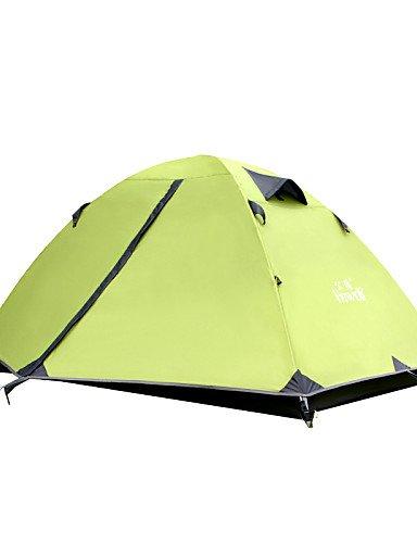 HIIY Zelt ( Grün/Grau/Blau/Hellgelb , 2 Personen ) - Feuchtigkeitsundurchlässig/Wasserdicht/Atmungsaktivität/Regendicht/Winddicht/warm halten