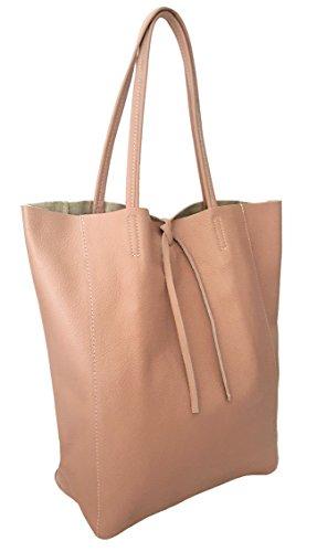 Sa Lucca echt Ledertasche Schultertasche Shopper Beuteltaasche Damentasche Handtasche