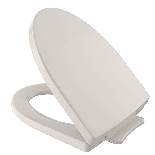 TOTO SS214#12 Soiree SoftClose Elongated Toilet Seat, Sedona - Toilet Sedona Elongated Seat Beige
