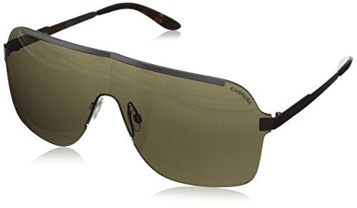 Carrera CA93S Shield Sunglasses, Ruthenium Brown, 99 - Shield Carrera Sunglasses