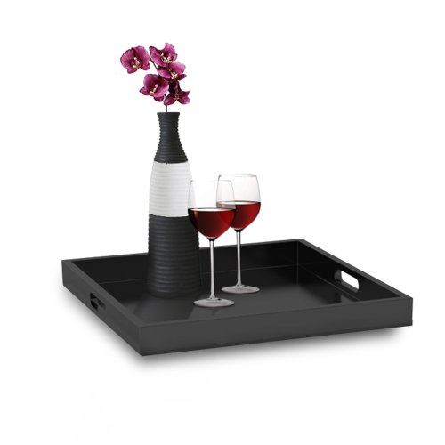 Convenience Concepts Palm Beach Serving Tray, Black