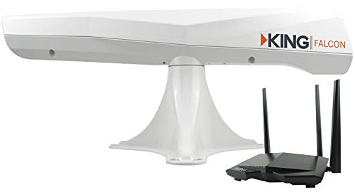 KING KF1000 Falcon Automatic Directional WiFi Antenna with WiFiMax Router and Range Extender - White by KING (Image #9)
