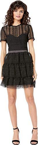(Bardot Women's Ava Lace Dress Black Large)