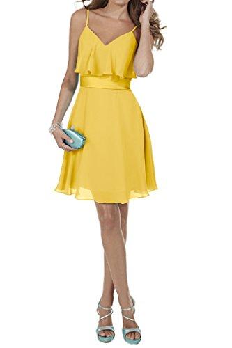 Promkleid Spaghetti Golden Damen Ballkleid Abendkleid Ausschnitt Linie A V Ivydressing Ypxqw4g