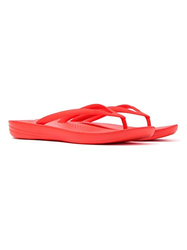 - FitFlop Women's Iqushion Ergonomic Flip-Flop Flame 5 M US