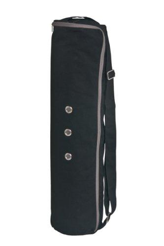 MERU Dual Air-flow Zipper 3 Storage Pockets Yoga Mat Bag, Large - Black
