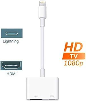 Adaptador de iluminación a HDMI AV, 1080P HDTV para iPhone XS XR ...