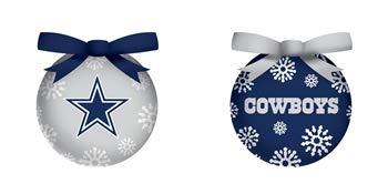 Team Sports America LED Boxed Ornament Set, Dallas Cowboys ()