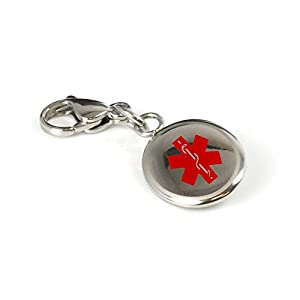 My Identity Doctor Custom Engraved Small Medical Alert Keychain, Stainless Steel