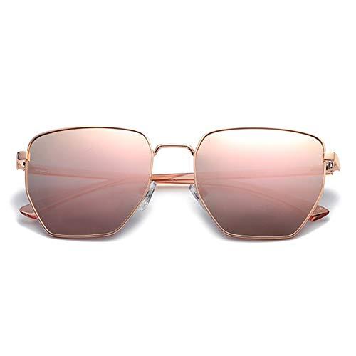 de Ladies Protective Unisex Polarizado Color Gafas Negro Hombre para Sumferkyh poligonales Style de UV protección Sol 100 Oro qxBAx5p