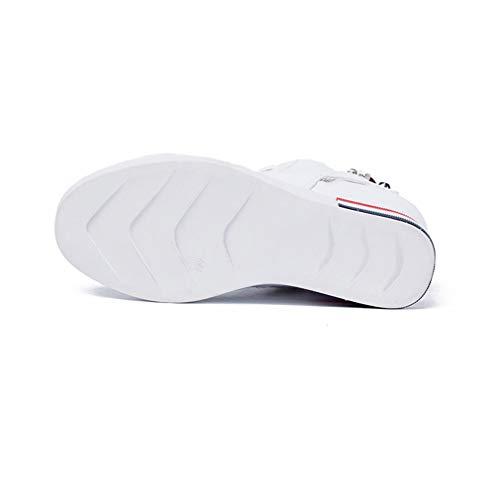 white Alto Top Cuneo Nero Pizzo Scarpe Formazione Alta White Da 38 Primavera Yan Sneakers Caduta top Donna Bianco AZSn4q