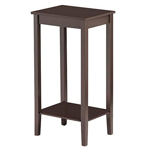 Amazon.com: Topeakmart Wood Coffee Table Tall Bedside
