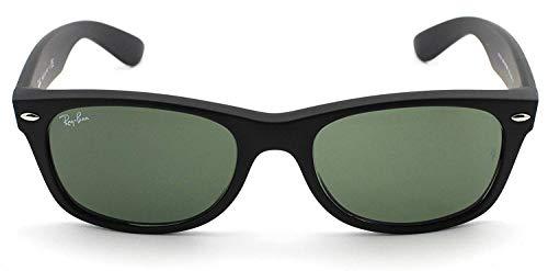 Ray-Ban RB2132 New Wayfarer Sunglasses Unisex (58 mm, Black Frame Solid Black Lens) ()