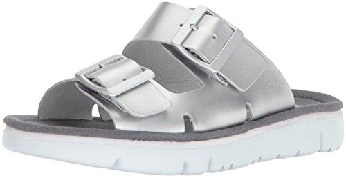 Camper Women's Oruga K200633 Flat Sandal, Silver, 38 M EU (8 US)