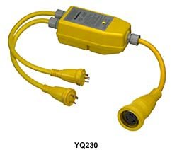 Hubbell Wiring Systems YQ230 Intelligent Y Adapter, 50A, 125/250 VAC, Yellow by Hubbell Wiring Systems
