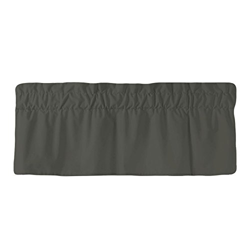 AB Lifestyles Straight Valance in Charcoal Grey - Fully Lined with 3 inch rod pocket