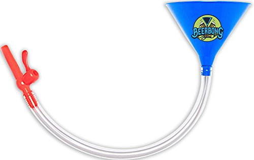 Beer Bong -Beer Funnel - With Valve No Kink Tubing Food Grade, You Pick From 7 Colors! Tailgating, Parties, Spring Break,, (Blue)