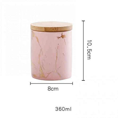 AYES Tarro de almacenamiento de cerámica a prueba de humedad, té y café para cocina, hogar, oficina (rosa)