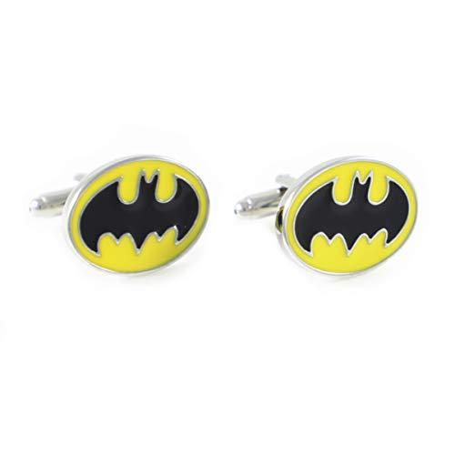 MENDEPOT Marvel Character Logo Cufflinks in Box Comic Symbol Cufflinks with Box (Batman Oval)