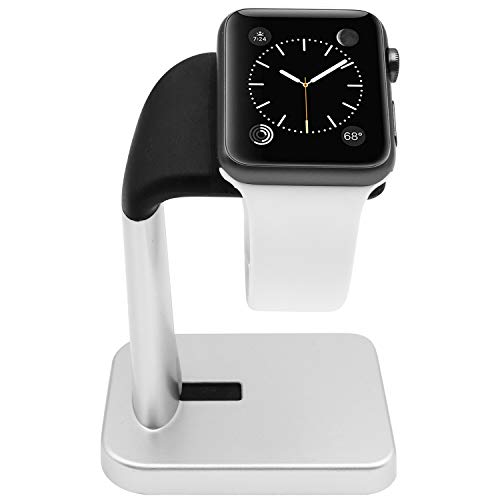 Macally Apple Watch Stand Holder - The Perfect Nightstand iWatch Charging Dock Station - Compatible with Smartwatch Series 4, Series 3, Series 2, Series 1 (44mm, 42mm, 40mm, 38mm)