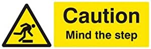 SIGN, CAUTION MIND THE STEP, RP 14209G By Best Price Square