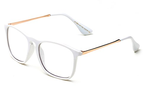 Eyrka Style Keyhole Fashion Clear Glasses Costume Metal Fashionista (Fashion Keyhole)