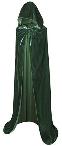 (BIGXIAN Full Length Hooded Velvet Cloak Halloween Christmas Fancy Cape Costumes 59