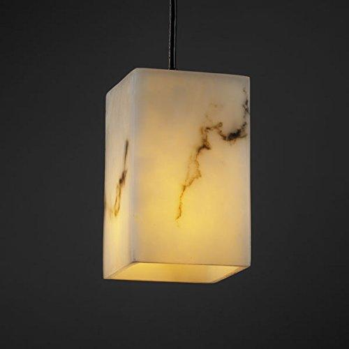 Justice Design FAL-8816-15-DBRZ, LumenAria Mini Square Pendant, 1 Light, 40 Watts, Bronze ()