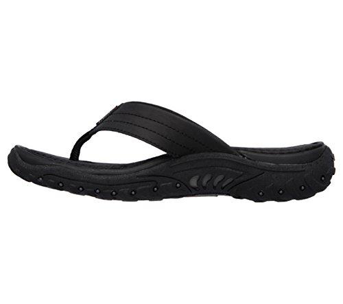 Skechers Reggae Slim Babylon Flip-Flop Sandal Black/black