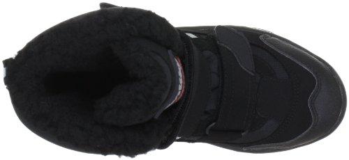ConWay 610118 Unisex-Erwachsene Warm Gefütterte Schneestiefel Schwarz (Schwarz)