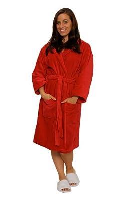 TowelBathrobe Wholesale 12 Pack Terry Velour Hooded Bathrobes