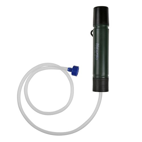 water purifier straw. Ideapro Portable Water Filter, 1500L Personal Filtration Bottle Straw Purifier Field Survival Gear
